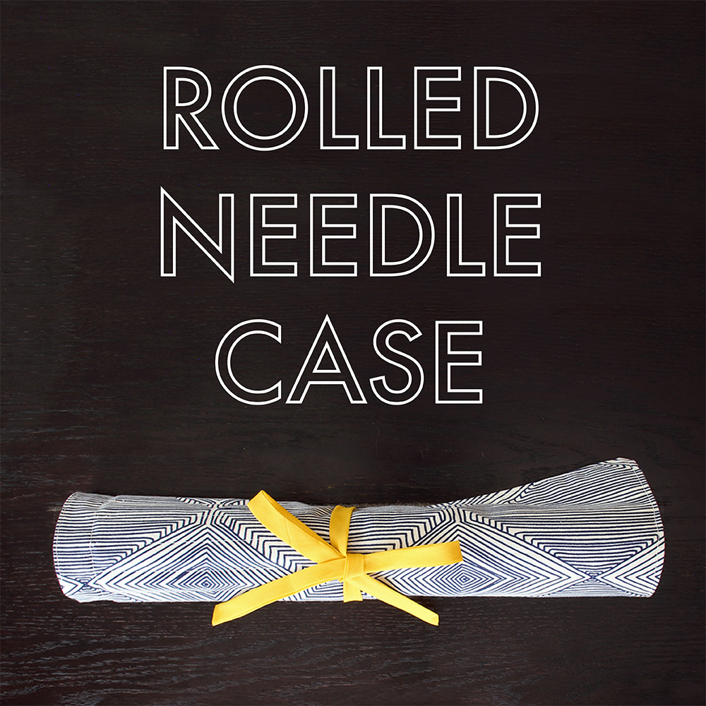 Rolled Needle Case: Keep your knitting needles & crochet hooks in order with this DIY needle case