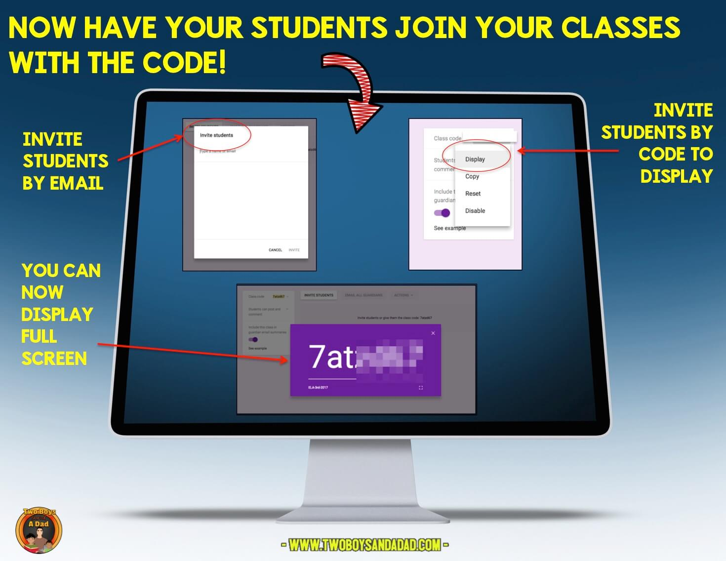 Add students to Google Classroom