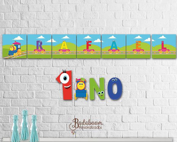 Badaboom Personalizados Arte Para Painel Bob O Trem C 000401