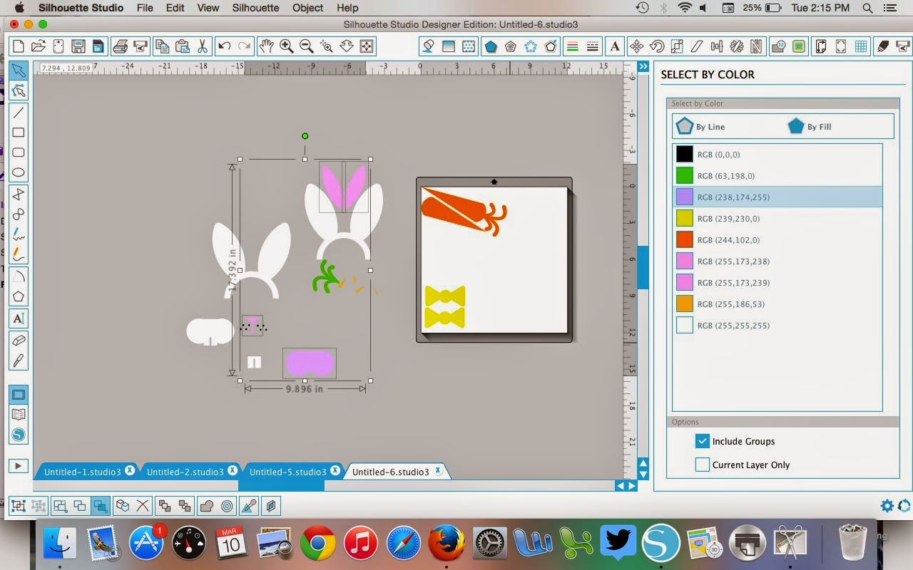 Silhouette Studio, select by color tool, Silhouette tutorial, designer edition, nesting tool
