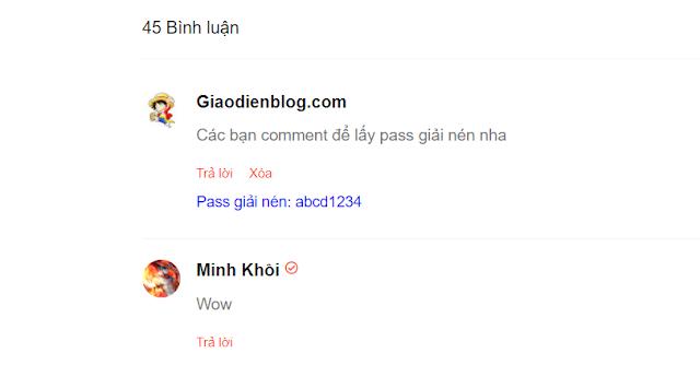 Thủ thuật comment để hiện password trong blogspot