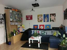 Brit's living room with full of her projects
