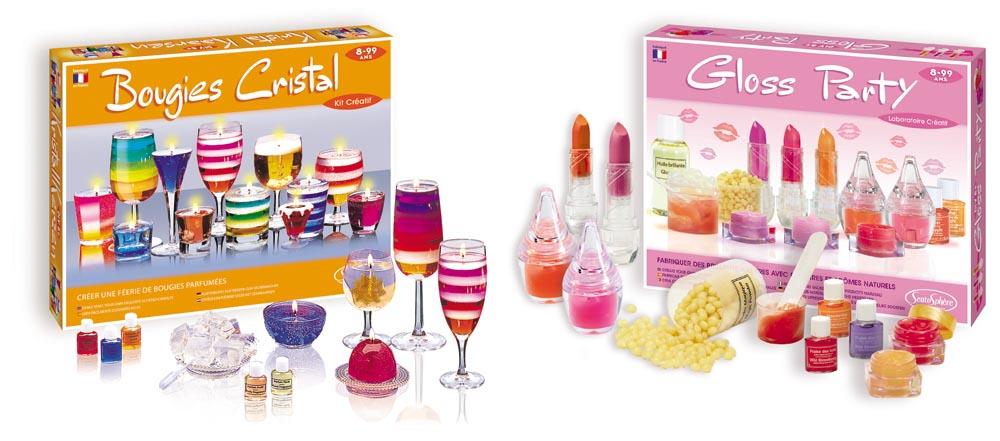 Coffret bougies cristal et coffret gloss party de Sentosphère