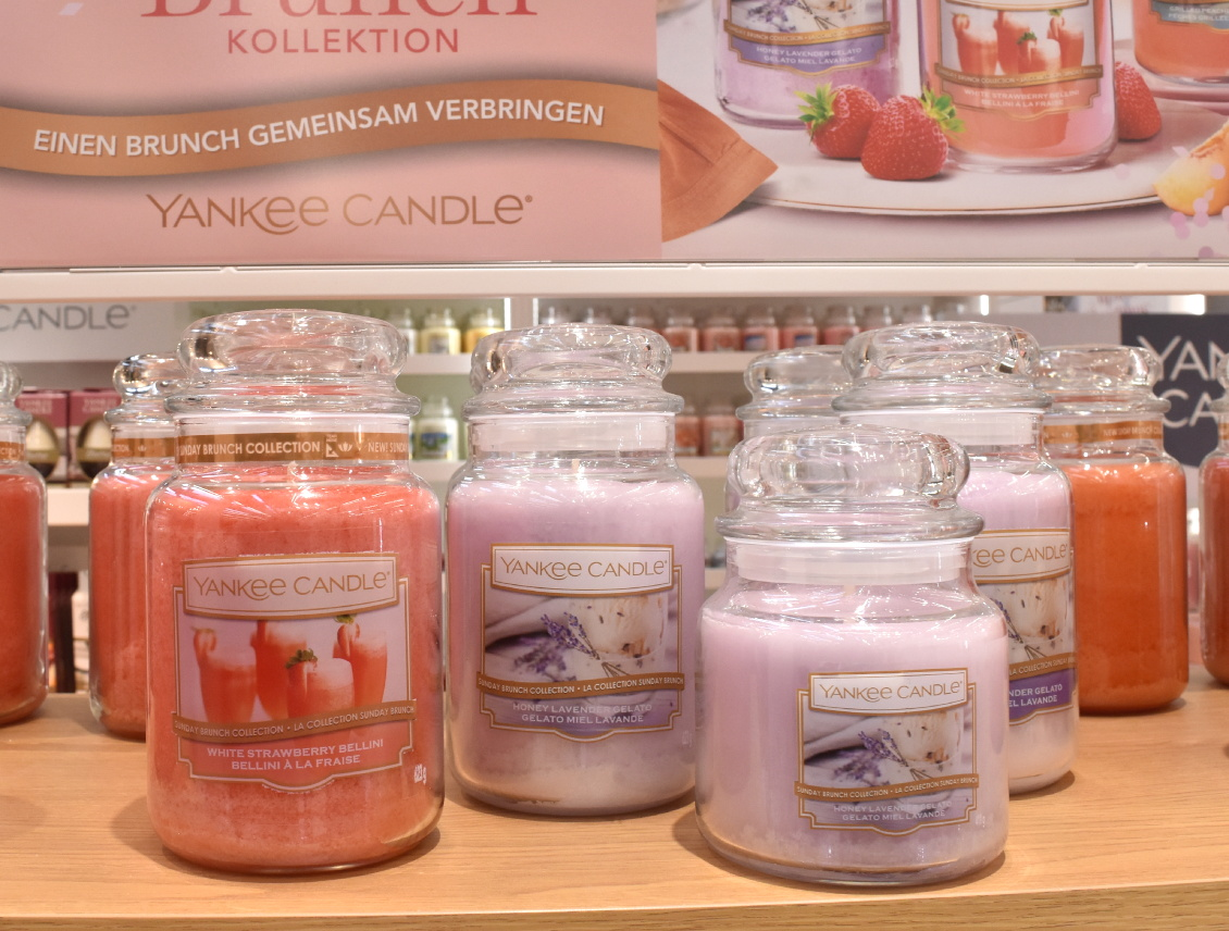 Yankee Candle - Sunday Brunch Sommer 2019 - White Strawberry Bellini - Honey Lavender Gelato - Grilled Peach & Vanilla