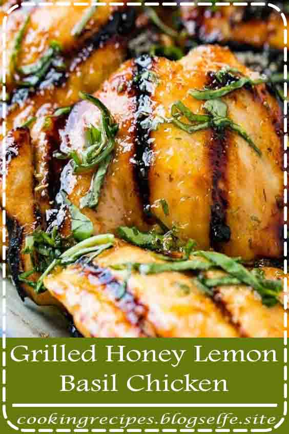 4.8 ★★★★★ | Grilled chicken is the perfect meal for summer! Add a simple marinade of the best flavors, and you'll be making this Grilled Honey Lemon Basil Chicken all summer long! It is a healthy and easy chicken recipe your whole family will enjoy! #grilledchicken #grilledchickenrecipe #grilledchickenthighs