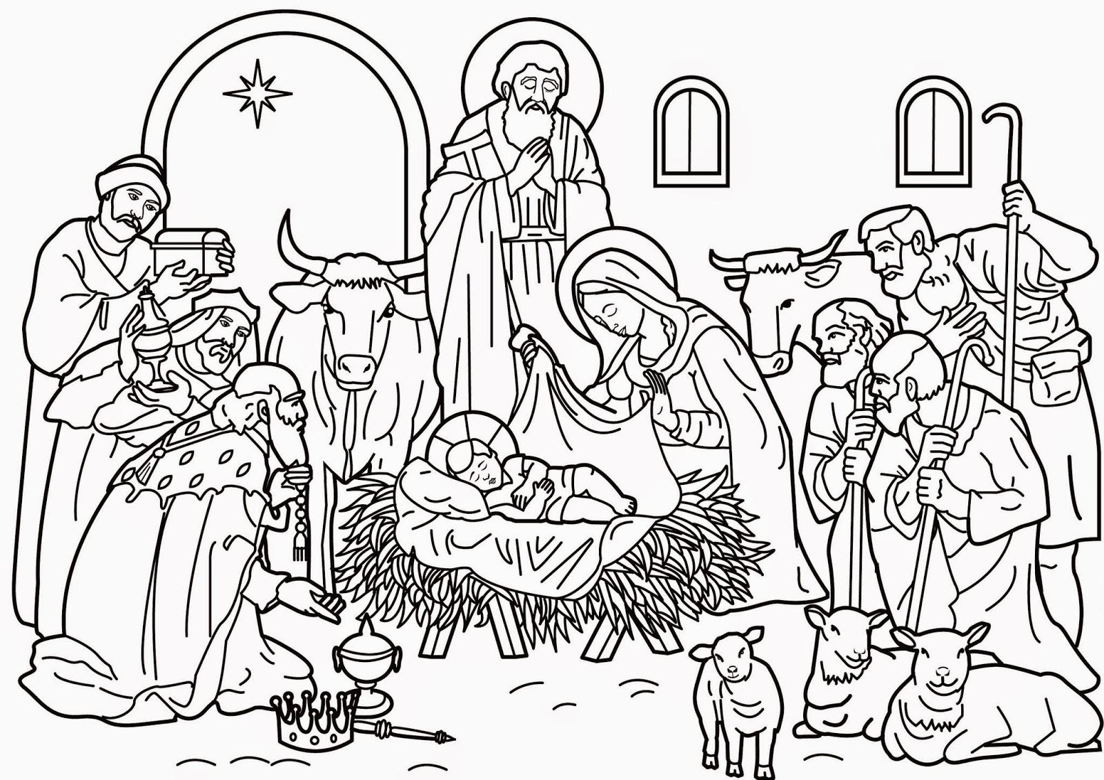 Dibujo Nacimiento De Jesus Para Colorear