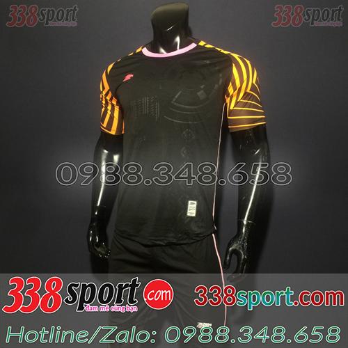 Áo bóng đá không logo màu đen xịn