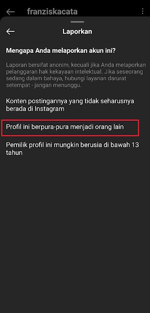 Cara Report Akun Instagram 2