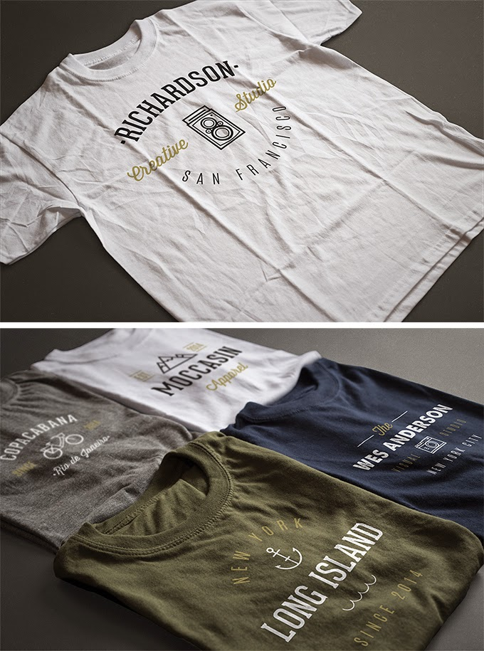 2 Photorealistic T-Shirt PSD Mock-ups
