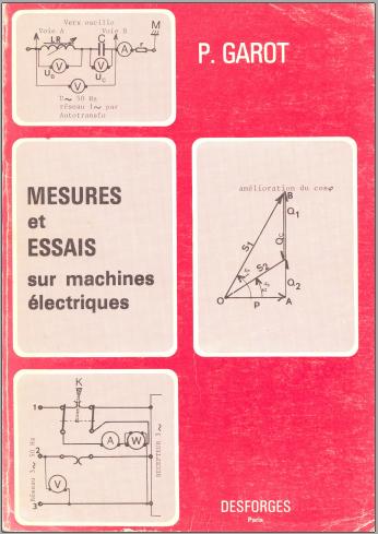 Livre : Mesures et essais sur machines électriques PDF