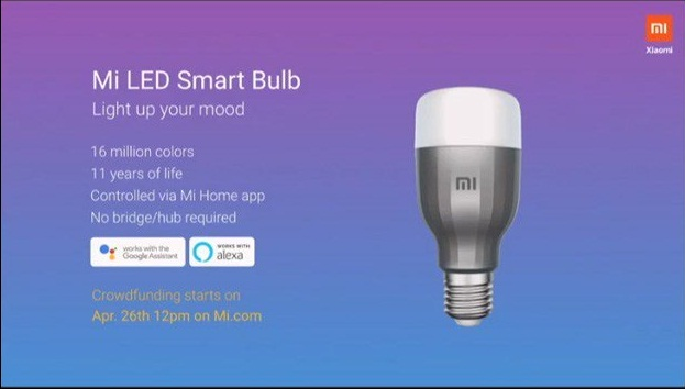 Xiaomi launched Mi LED Smart Bulb in India, will available via crowdfunding