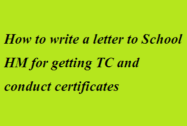 How to write a letter to school hm for getting tc and conduct write a letter to the hm of your former school requiring your tc and conduct character certificate yelopaper Choice Image