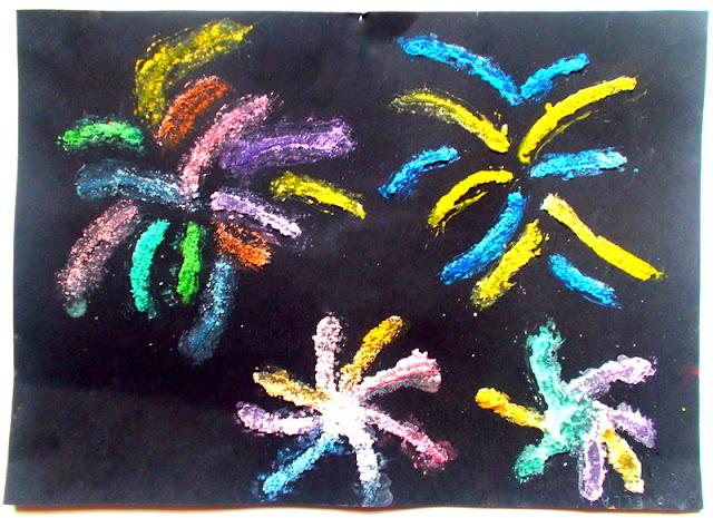 Mademoiselle coralie feux d 39 artifice technique du sel color avec de la peinture - Eliminer les pellicules avec du sel ...