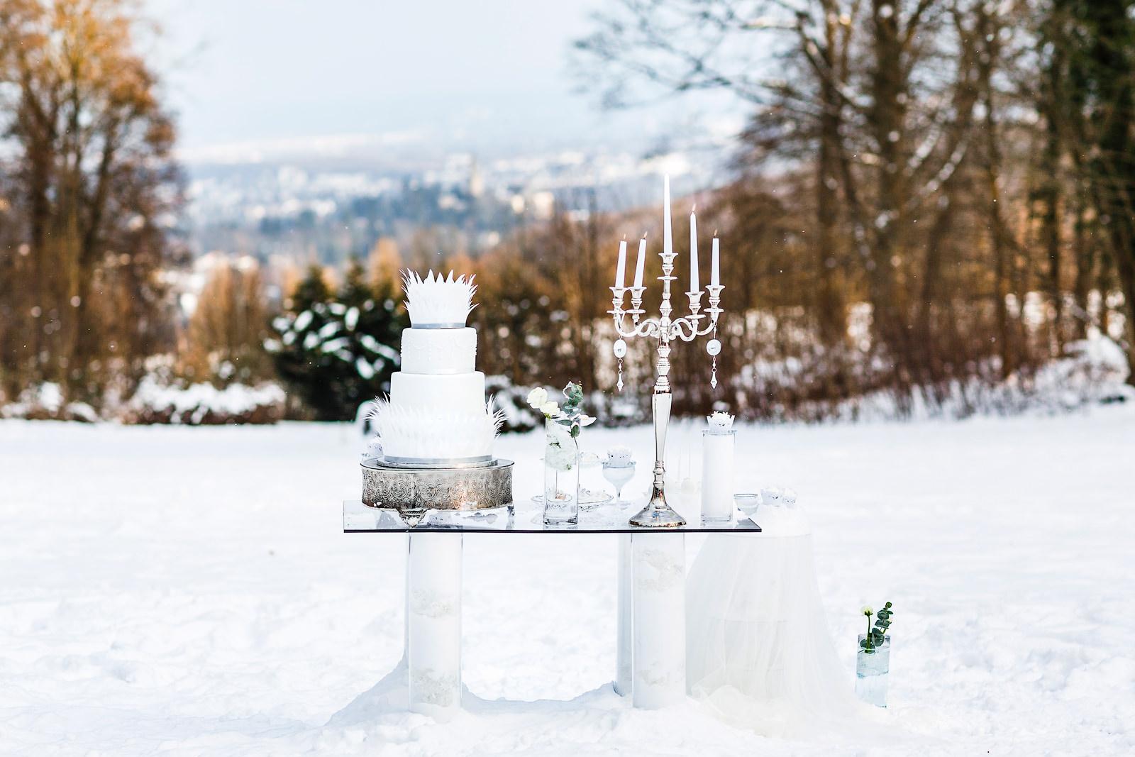 Perfekte Winterhochzeit