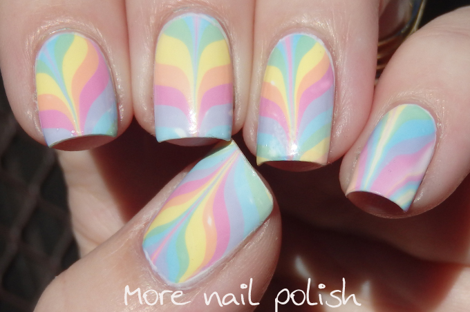 Water Marbling Nail Polish Doesnt Spread - To Bend Light