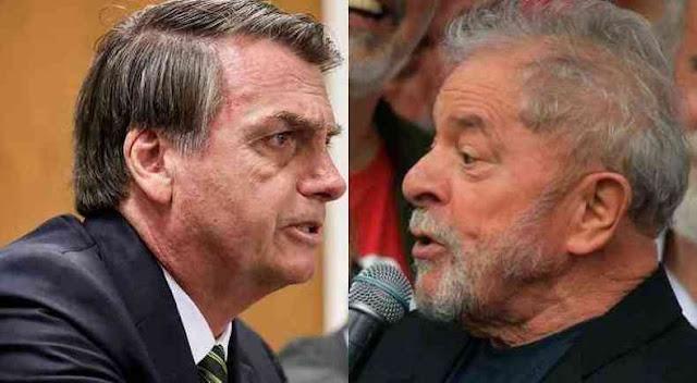 Lula e Bolsonaro estão tecnicamente empatados para 2022, diz pesquisa XP/Ipespe