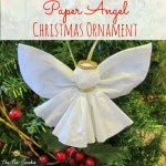 Coffe Filter Angel Ornament