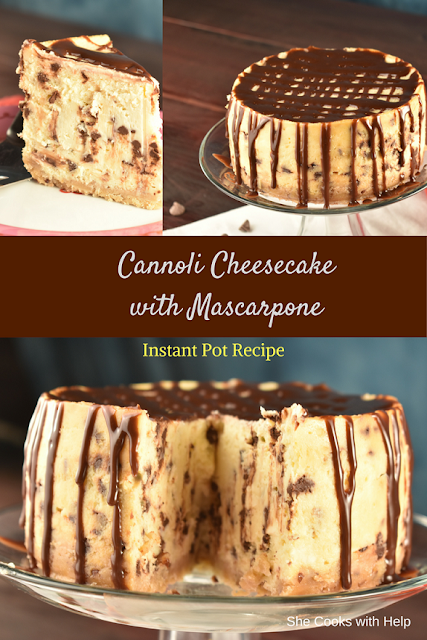 Cannoli Cheesecake with Mascarpone #Instantpot #dessert