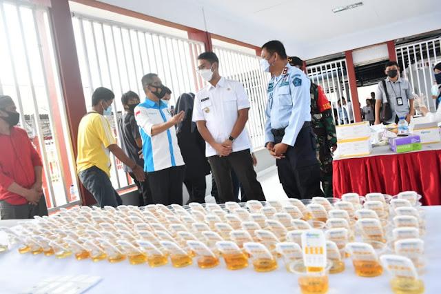 Pastikan Warga Binaan Bebas dari Narkoba, ASA Apresiasi Tes Urine Rutan Kelas II B