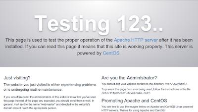 Cara Install Apache di CentOS 7
