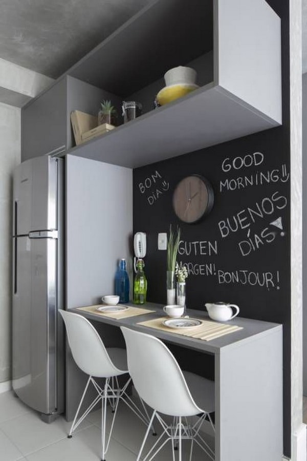 The Best Kitchen Bar Designs For Small Areas - Simple but Great!! 8