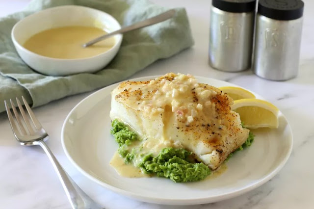 Chilean Sea Bass with Lemon Parmesan Cream Sauce #fish #seafood