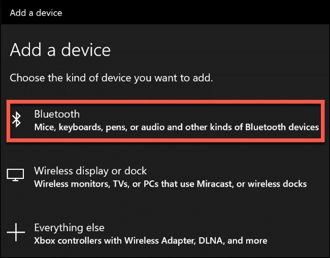 add device bluetooth