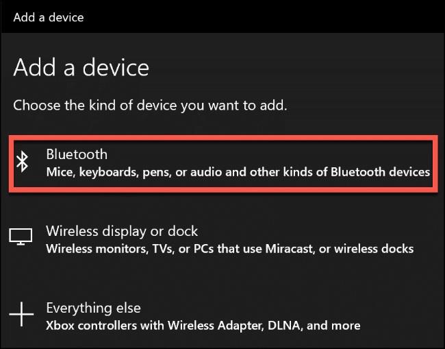 add device bluetooth