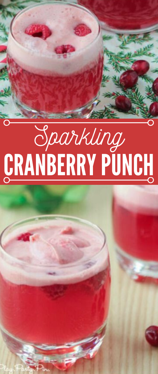 CRANBERRY RASPBERRY HOLIDAY PUNCH #drink #raspberry #punch #summer #smoothie