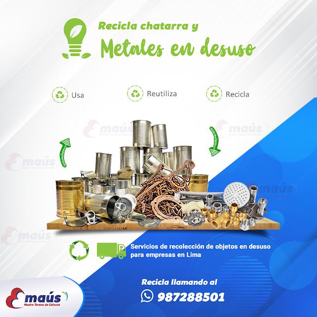 Recicla chatarra y metales en desuso
