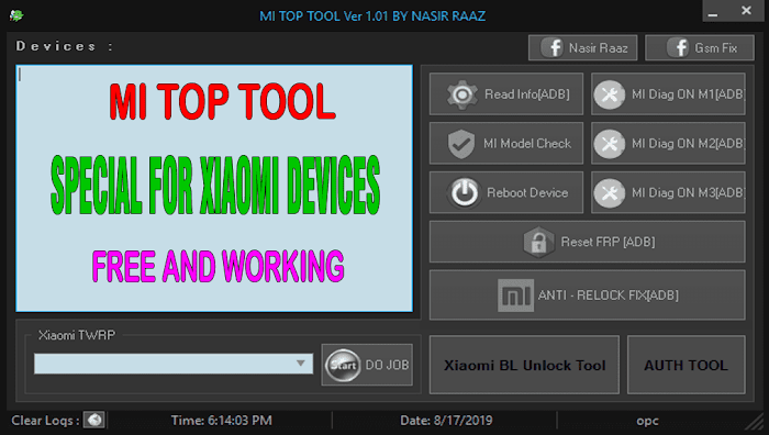 Mi Top Tool V1.01 Special For Xiaomi Devices (Free and Working)