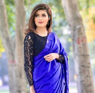 sarah chaudhary in saree