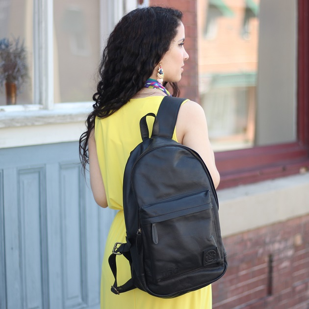 MAHI Black Leather Backpack Review
