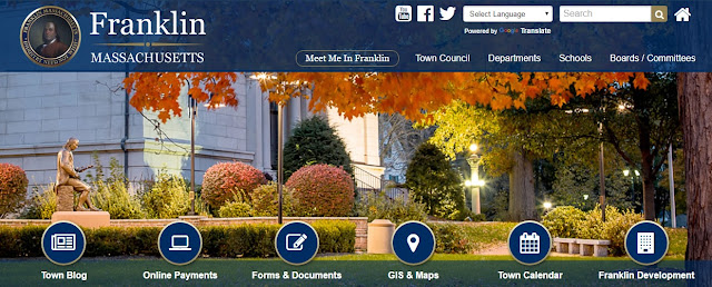 newly updated Town of Franklin webpage