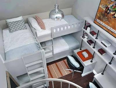 model kamar tidur tingkat terbaru