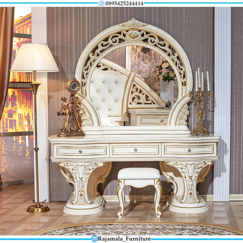 Meja Rias Mewah Jepara Desain Princes Luxury Carving Classic Furniture Vanity Room RM-0492