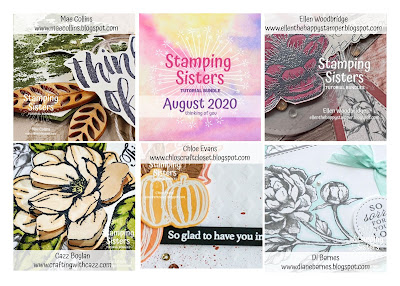 Thinking of you card tutorial using Stampin Up Prized Peony stamp set and die bundle. Made for Stamping Sisters Tutorial Bundles August 2020. By Di Barnes Independent Stampin Up Demonstrator in Sydney Australia. colourmehappy sydneystamper