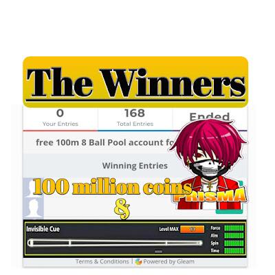 Free 100m coins 8 ball pool