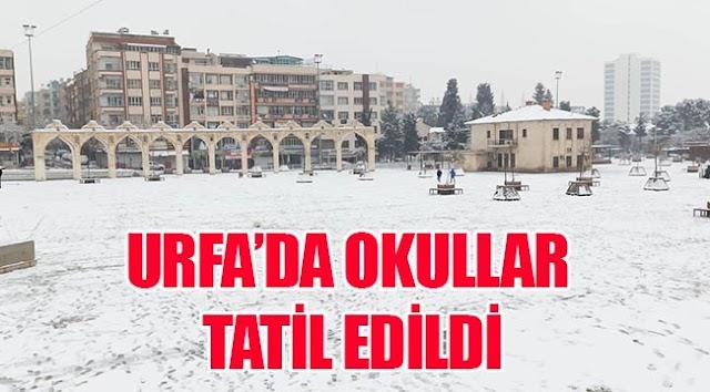 Vali duyurdu: Urfa'da yarında okullar tatil