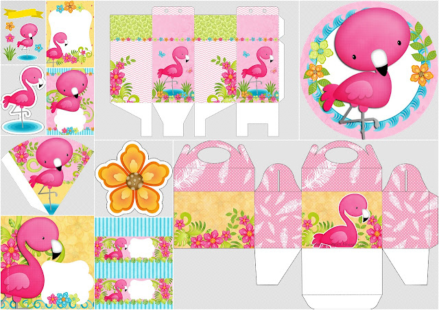 Flamingo: Free Printable Mini Kit.