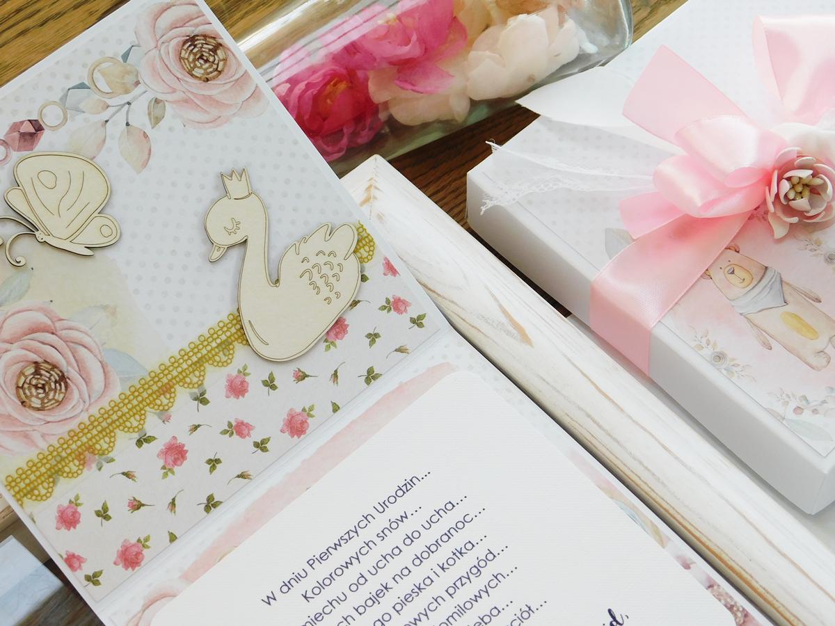 kartka na pierwsze urodziny, scrapbooking, ręcznie robione, handmade