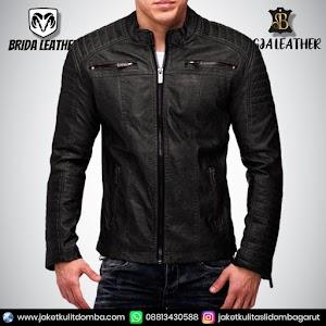 Jual Jaket Kulit Asli Garut Pria Domba Original Brida Leather B82 | WA 08813430588