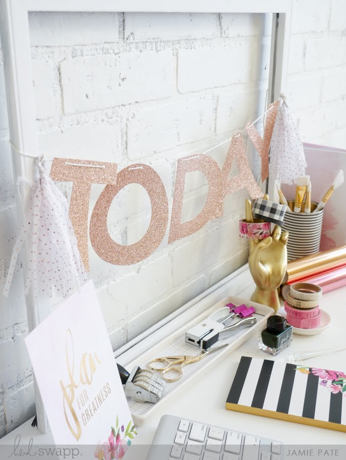 new Heidi Swapp Banner Kit and Work Space Goals by Jamie Pate | @jamiepate for @heidiswapp