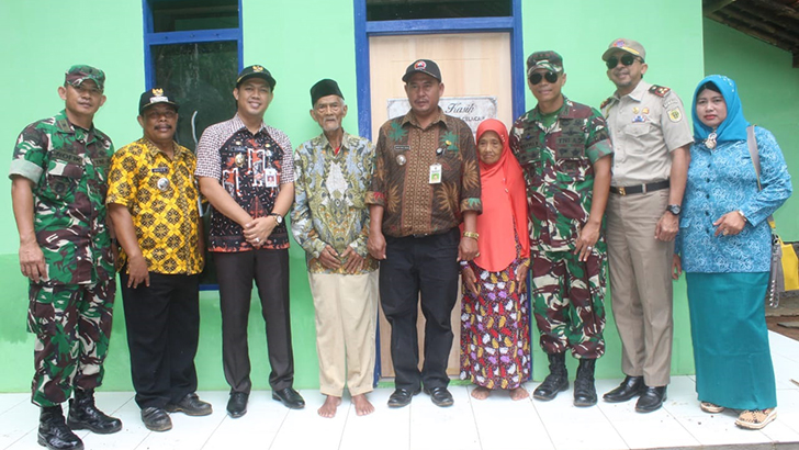 Dandim Bersama Wakil Bupati Cilacap Tinjau Hasil Pembangunan TMMD di Desa Dayeuhluhur