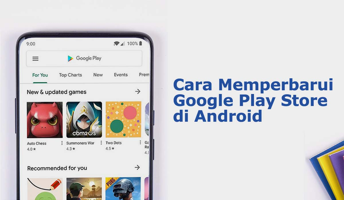 cara memperbarui google play