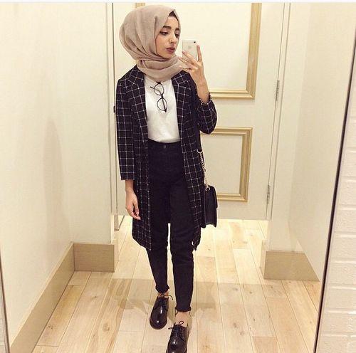 40 Model Fashion Hijab Simple Elegan Terbaru 2018
