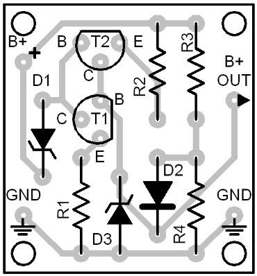 Parts Placement Layout Circuit Diagram
