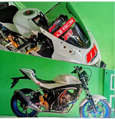 Ketika Suzuki GSX R150 Dimodif  Layaknya Suzuki S150