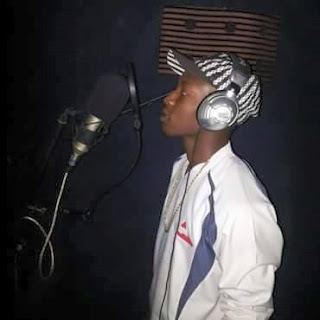 Mr Kendy recording new song in the studio