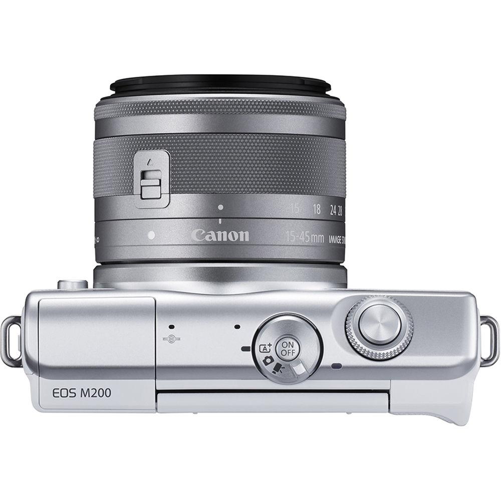 Canon EOS M200, вид сверху